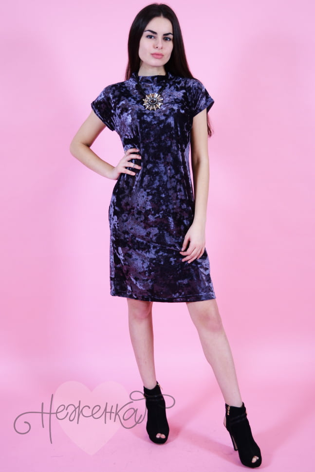 Платье П 533 (т.серый)