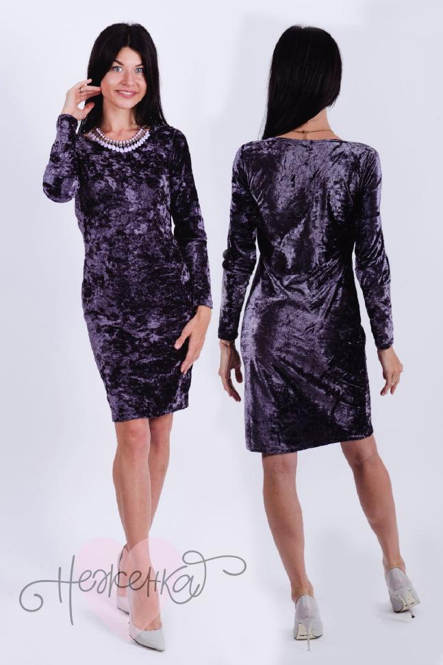 Платье П 535 (т.серый)