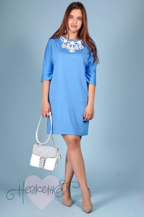 Платье П 343 (голубой)