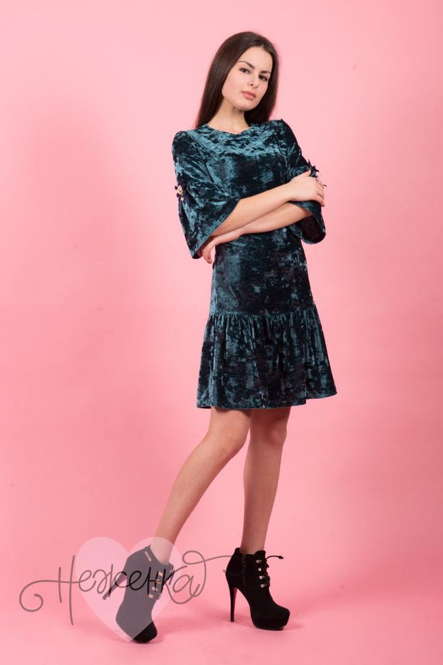 Платье П 527 (изумруд)