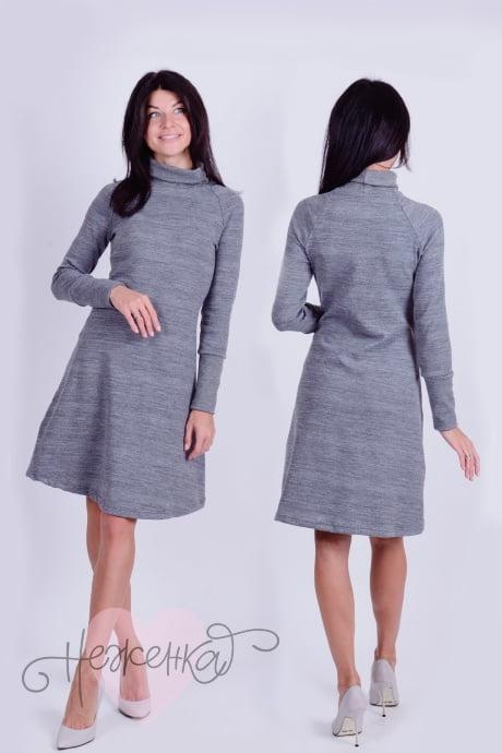 Платье П 471 (серый)