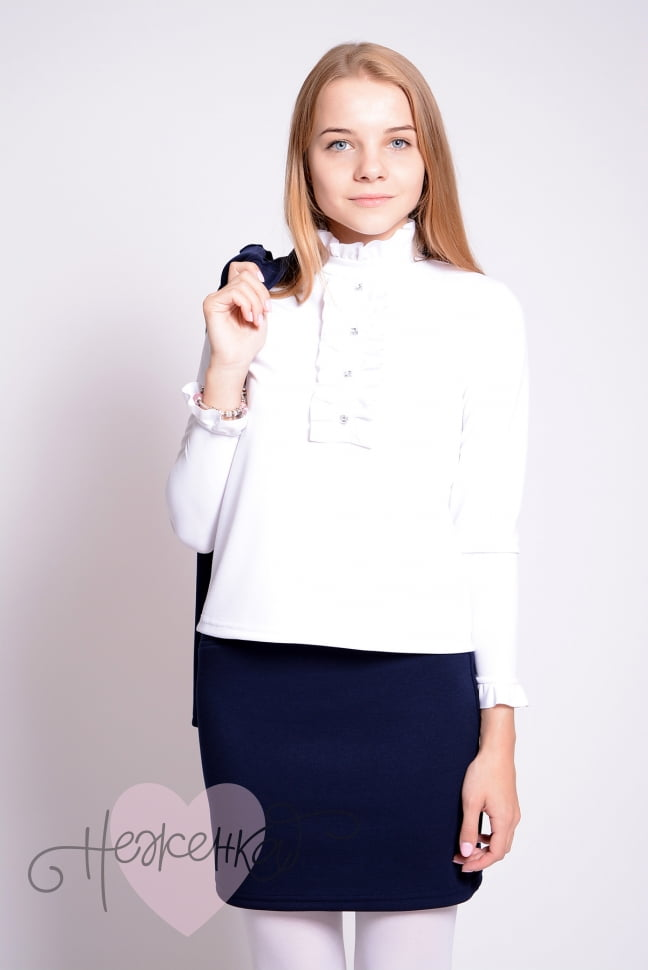 Купить к школе белые блузки