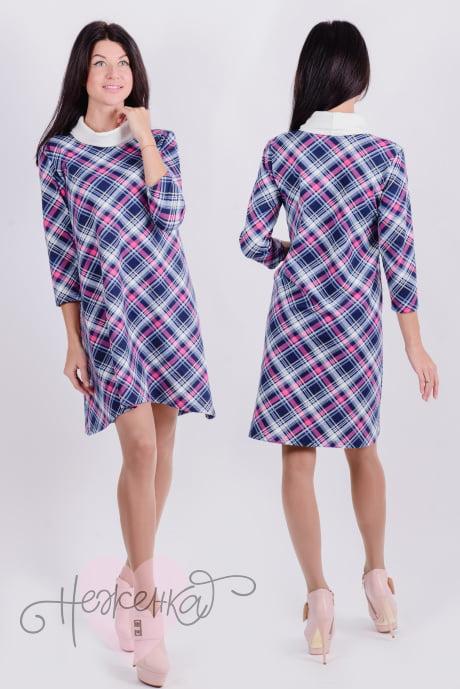 Платье П 459 (сиреневая клетка)