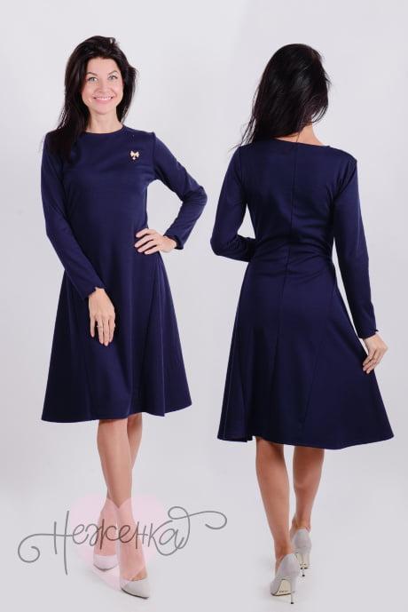 Платье П 510 (темно-синий)