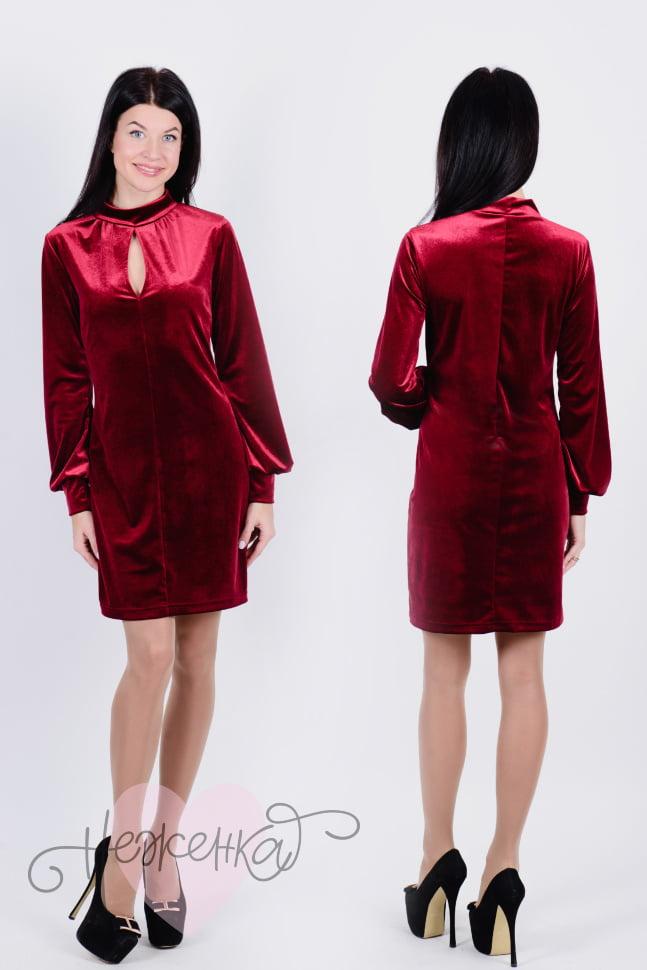 Платье П 647 (бордовый)