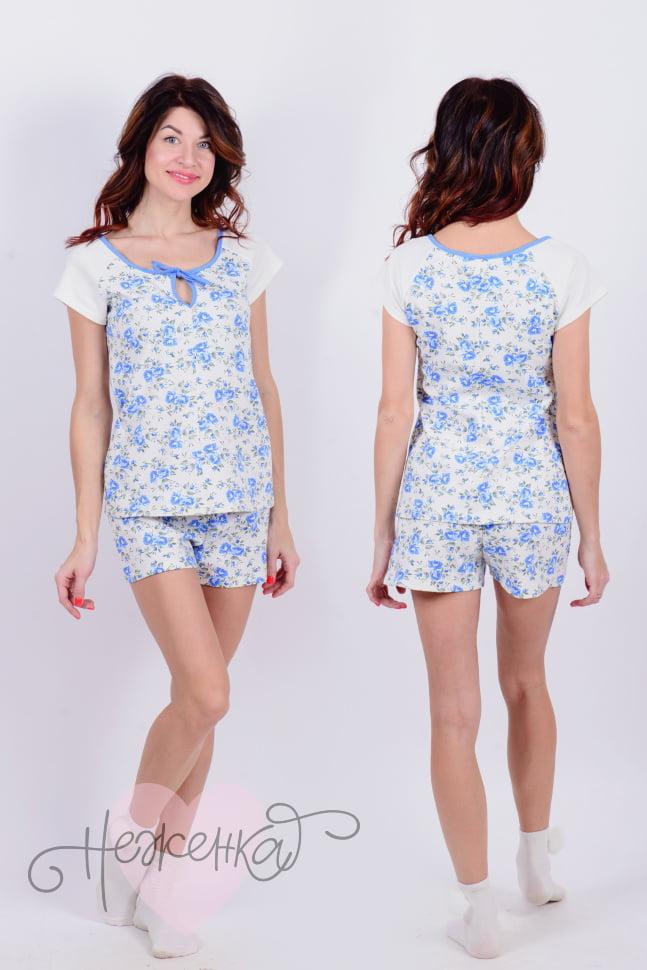 Пижама Д 64 (голубой принт)