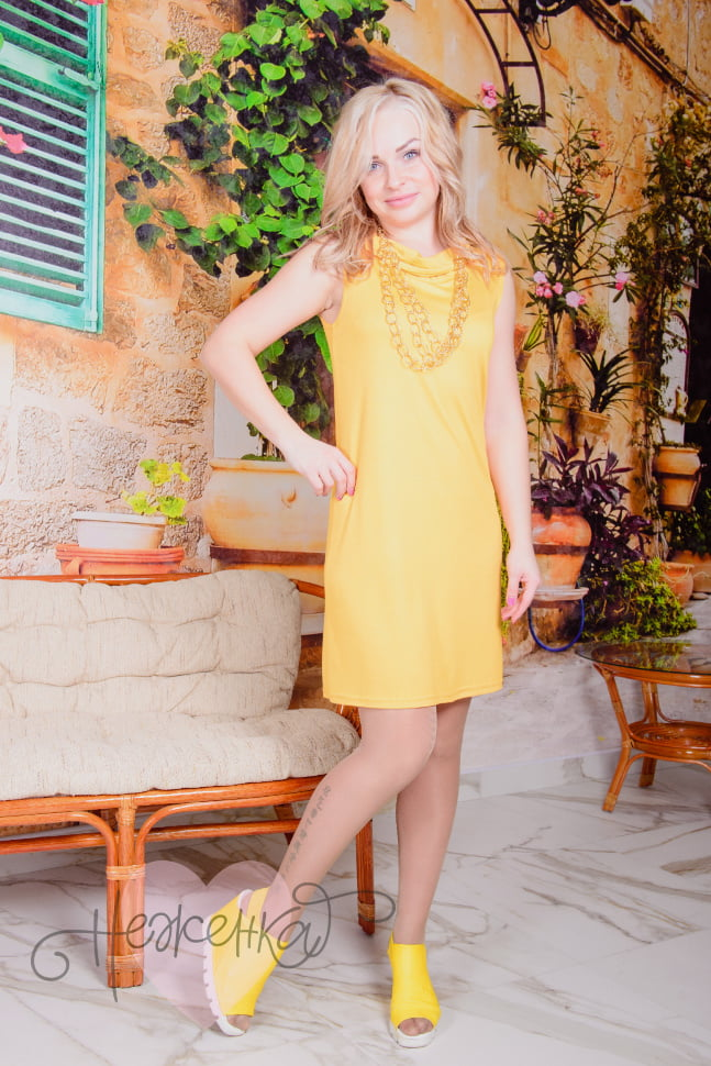 Платье П 542 (желтый)