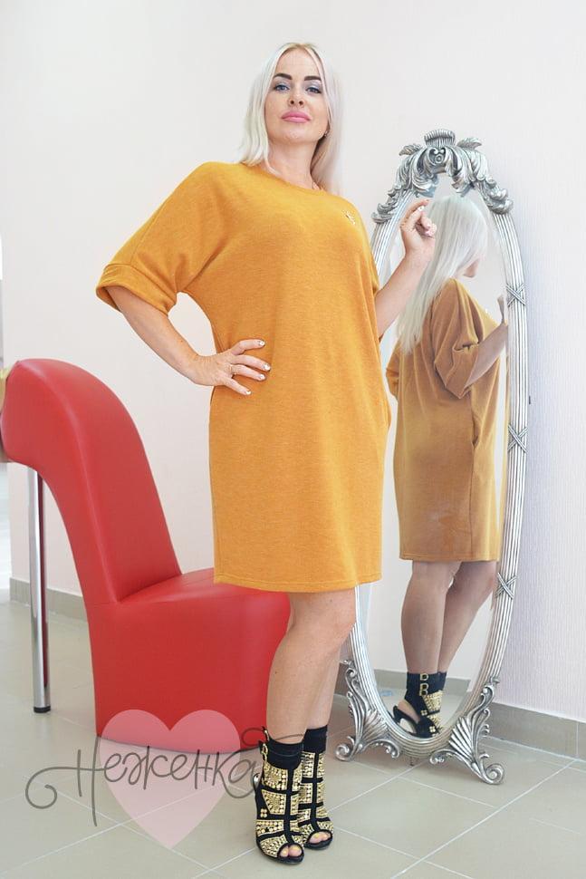 900be565b37ca3a Платье П 719 (горчичный) - купить оптом за 685 руб. от производителя ...