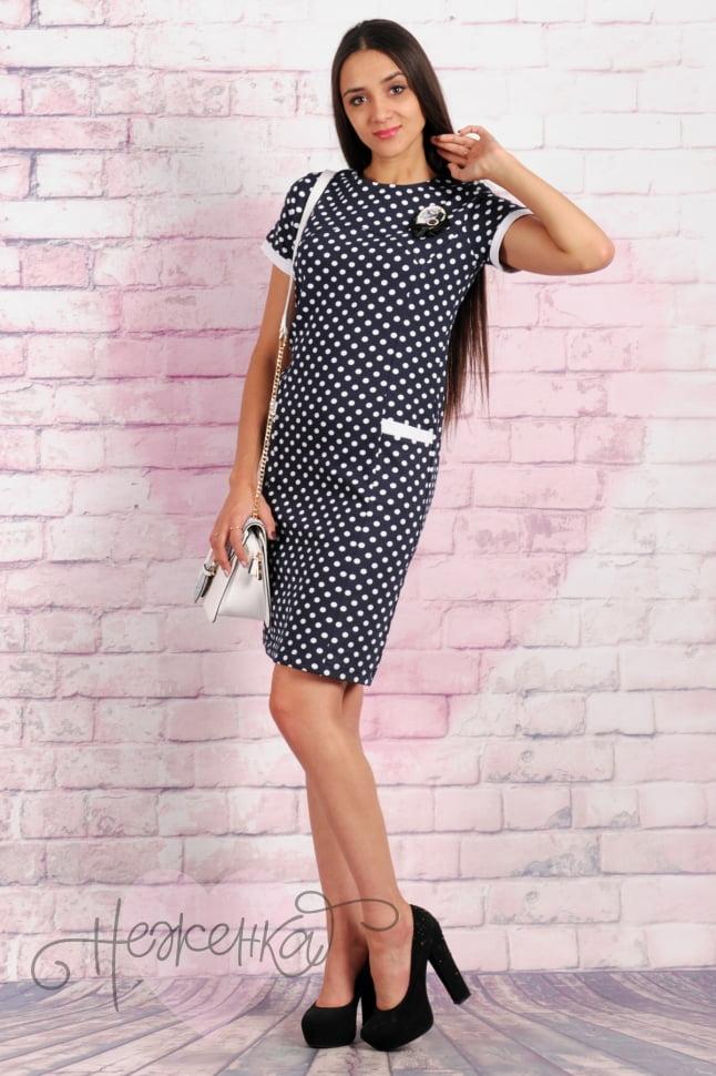 d23a5c8ba457 Платье П 268 (Горох) - купить оптом за 580 руб. от производителя в ...