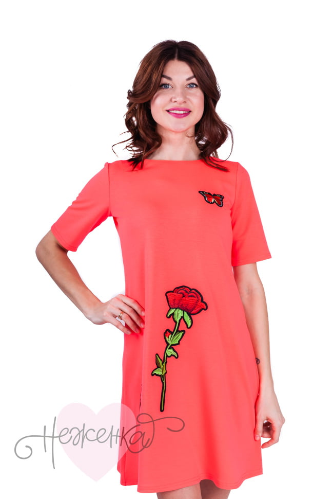 95484e4760e3 Платье П 605 (неон розовый) - купить оптом за 505 руб. от ...