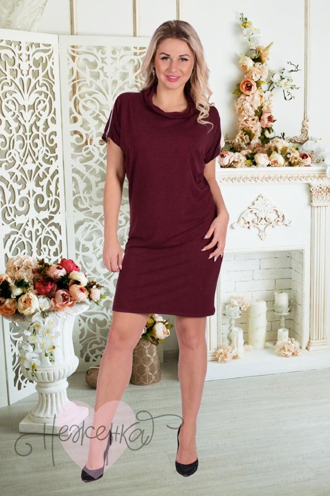 605be7af0f1b34e Платье П 107 (темно-бордовый) - купить оптом за 650 руб. от ...