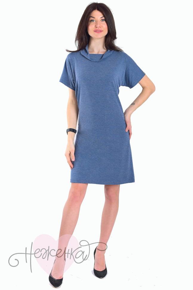 c3fc2abe1f62cb6 Платье П 107/1 (сине-серый меланж) - купить оптом за 540 руб. от ...