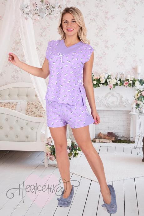 55db744046866 Женская пижама ЖП 004 (глаза на сиреневом) - купить оптом за 430 руб ...