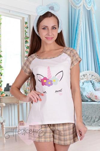 1829e5a1e88a0 Женские пижамы - купить недорого милую пижамку с шортами или брюкам ...