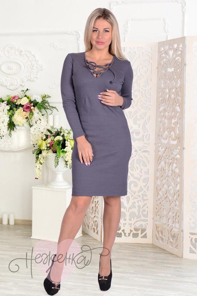 1fd72ea0ae8b Платье П 455 (серый) - купить оптом за 530 руб. от производителя в ...