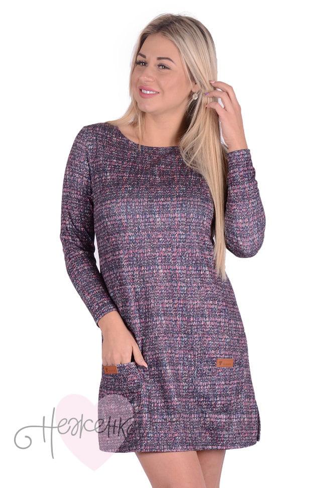 580e5d45046b Платье П 643/3 (сиреневая рябь) - купить оптом за 580 руб. от ...